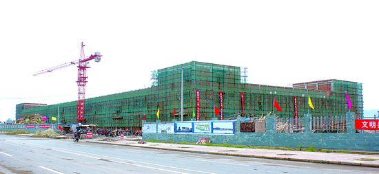 光电产业园2.5万平方米标准厂房完工